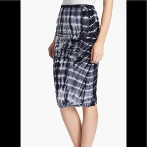 James Perse tie-dye ruched pencil skirt 2